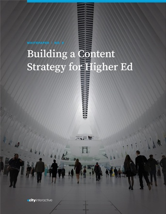 Building a Content Strategy for Higher Ed eBook Cover