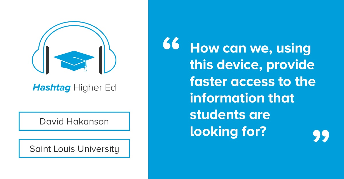 David Hakanson Hashtag Higher Ed Podcast