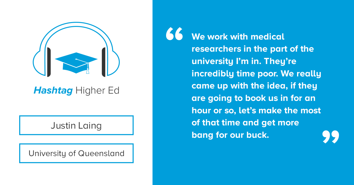 Justin Laing Hashtag Higher Ed Podcast