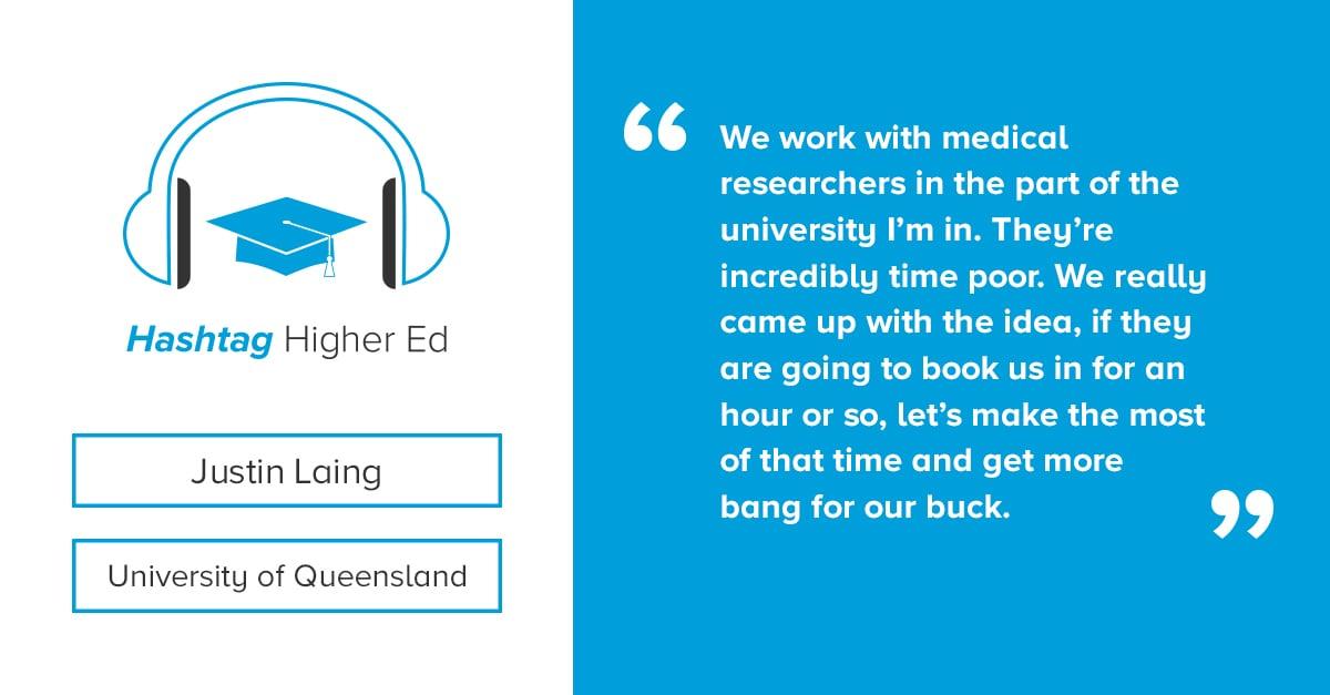 Justin Laing Hashtag Higher Ed Podcast