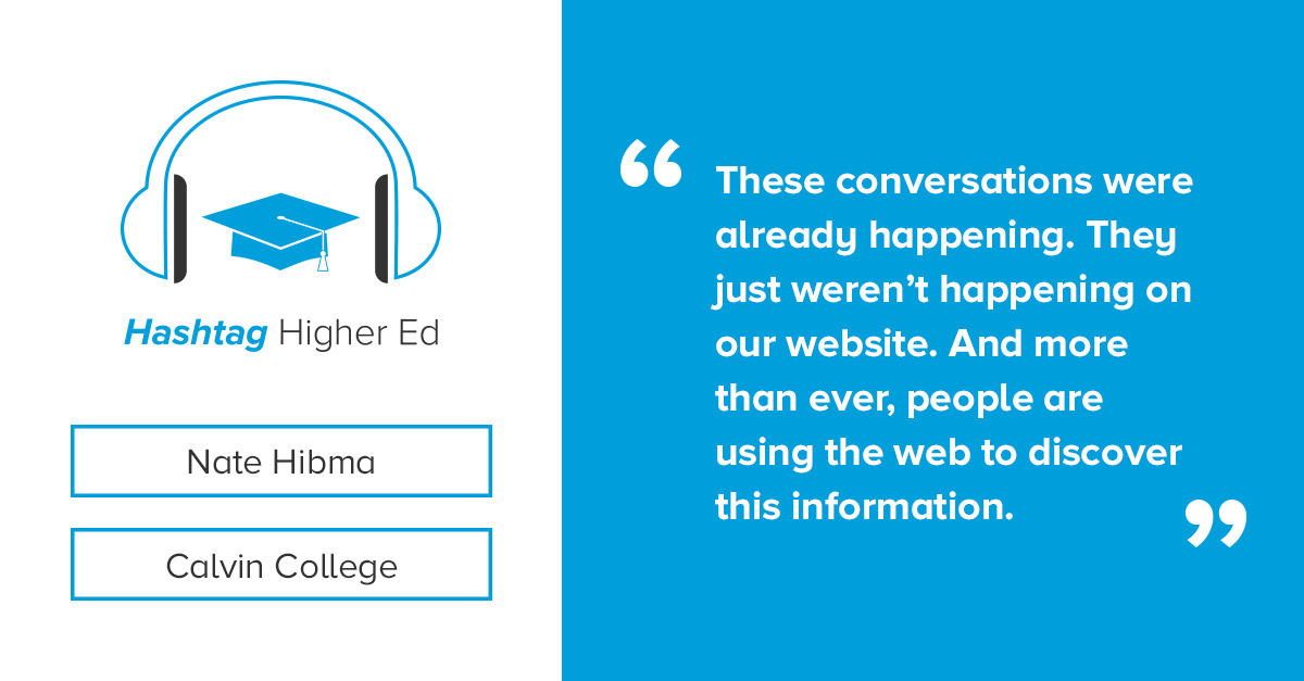 Nate Hibma Hashtag Higher Ed Podcast