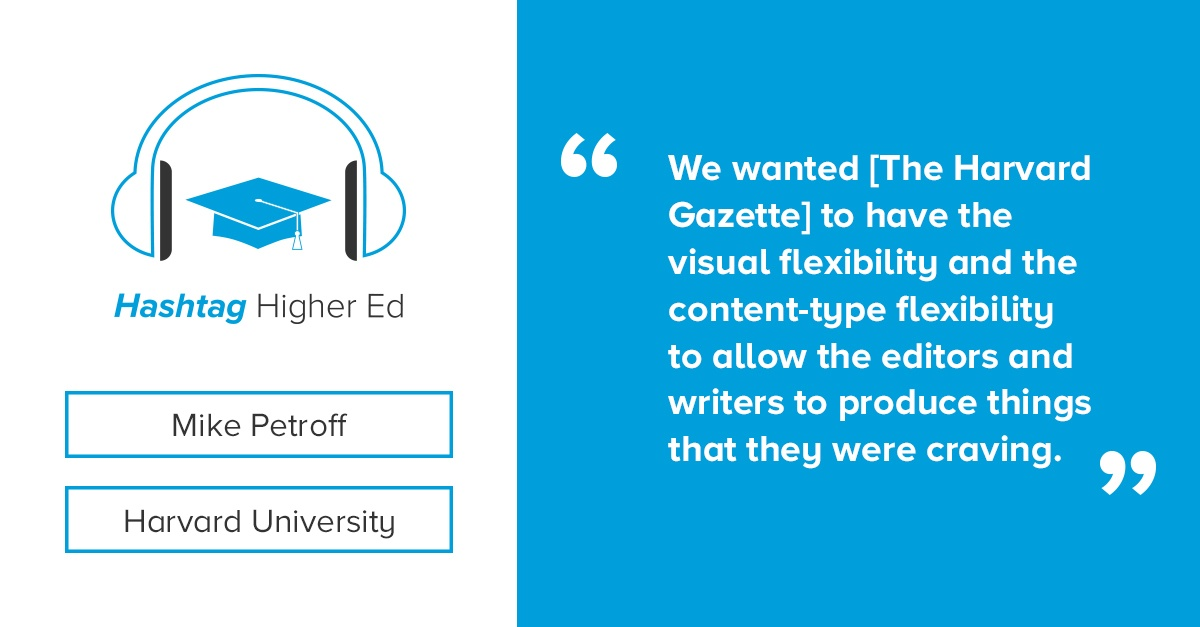 Mike Petroff Hashtag Higher Ed Podcast