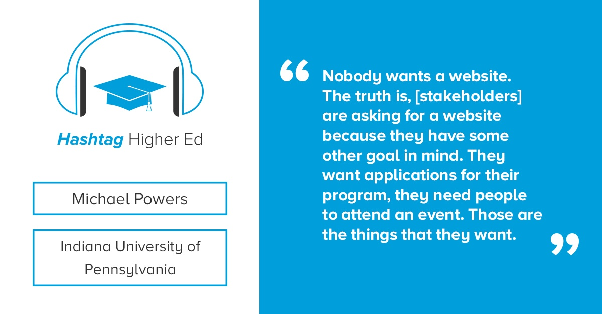 Michael Powers Indiana University of Pennsylvania Hashtag Higher Ed Podcast