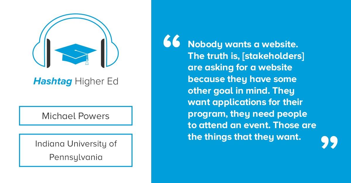 Michael Powers Indiana University of Pennsylvania Hashtag Higher Ed Podcast