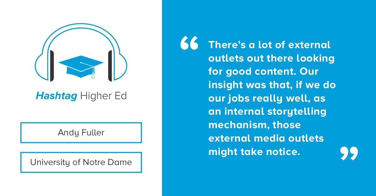 Stories at Notre Dame Hashtag Higher Ed Podcast