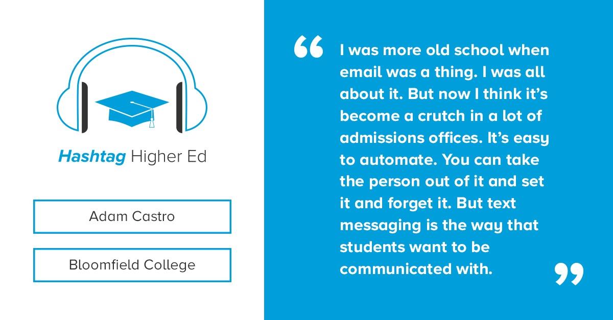 Hashtag Higher Ed Podcast Adam Castro