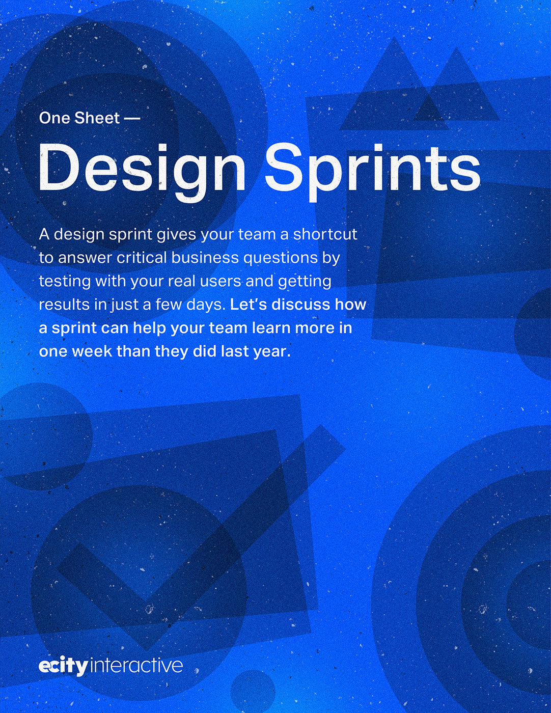 Design Sprint One Pager